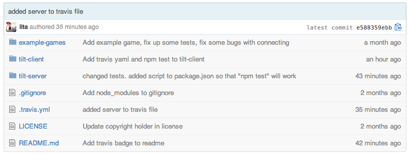 Screenshot of tilt-js repository